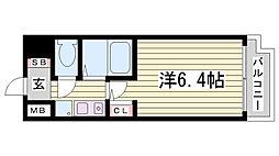 ワコーレ新神戸ステージ[410号室]の間取り