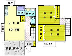 [テラスハウス] 福岡県古賀市天神4丁目 の賃貸【福岡県 / 古賀市】の間取り
