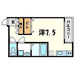 ソリューション甲子園[6階]の間取り
