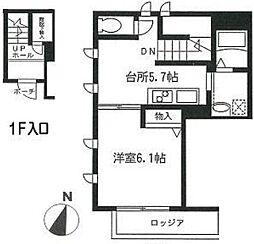東京都板橋区若木2丁目の賃貸マンションの間取り
