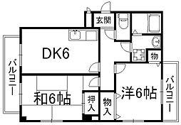 エクセルミナミ[3階]の間取り