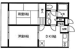 サンヒルズ南山田A[2階]の間取り