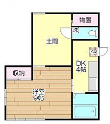 第一山崎荘[101号室]の間取り