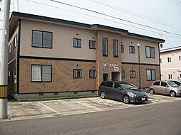 秋田県横手市赤坂字伏山の賃貸アパートの外観