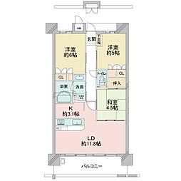 KWレジデンス日本橋[0702号室]の間取り