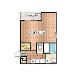 大阪府茨木市中穂積3丁目の賃貸アパートの間取り