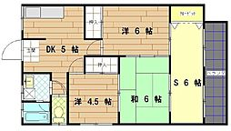 畑田第2アパート[201号室]の間取り