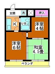田町第二マンションB棟[302号室]の間取り