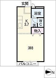 ロイヤル三好ヶ丘A[1階]の間取り