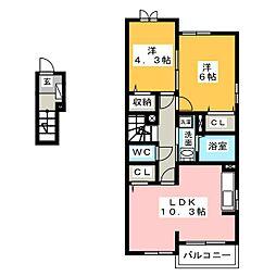 Estano F I・II[2階]の間取り