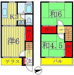 [テラスハウス] 千葉県松戸市新松戸5丁目 の賃貸【千葉県 / 松戸市】の間取り