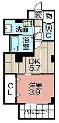 Casa大濠西[606号室]の間取り