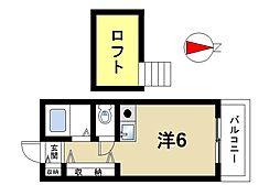 奈良県奈良市鳥見町1丁目の賃貸マンションの間取り