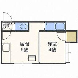 北海道札幌市東区北三十条東14丁目の賃貸アパートの間取り
