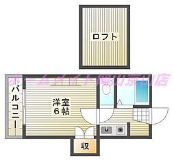 エクセルハイム高柳[1階]の間取り