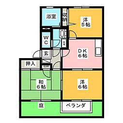 オーシャンビュー若松C[2階]の間取り