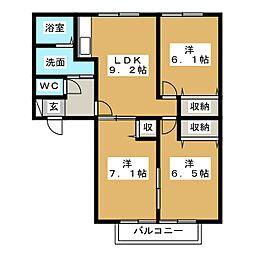 ソレイル レトア[2階]の間取り