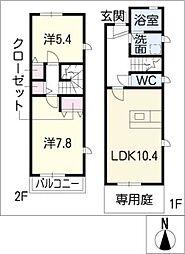 [タウンハウス] 愛知県刈谷市御幸町7丁目 の賃貸【愛知県 / 刈谷市】の間取り