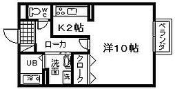 セジュール藤井 B棟[105号室]の間取り