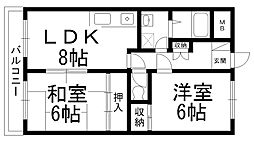 富士雁屋西マンション[0403号室]の間取り