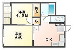 ペルソシアマンション[3階]の間取り
