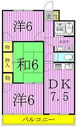 パークマンション西原[3-301号室]の間取り