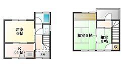 [テラスハウス] 愛媛県宇和島市野川 の賃貸【/】の間取り