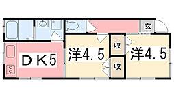 プリンセスロード京町[1階]の間取り