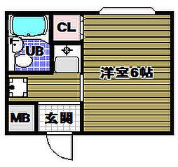 シャルム山村PARTI[2階]の間取り