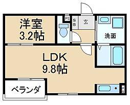 アーバン香里ケ丘[3階]の間取り