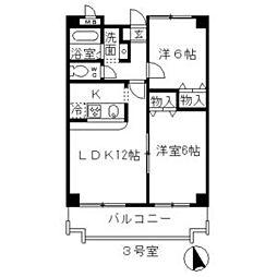 ベルドミール葵22[2階]の間取り