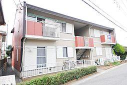 埼玉県越谷市東大沢1丁目の賃貸アパートの外観