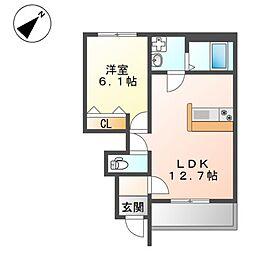 仮)藤江新築アパート[1階]の間取り