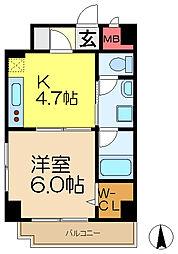 K・Iサウスガーデン[1階]の間取り