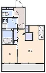 埼玉県さいたま市浦和区神明2丁目の賃貸マンションの間取り