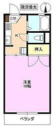 長野県長野市大字小柴見の賃貸アパートの間取り