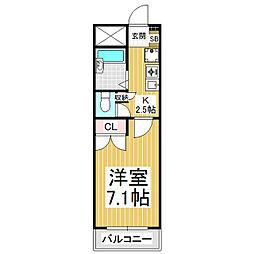 あすなろマンション[3階]の間取り