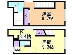 仮)グランメール宮の沢2‐1II 3階1LDKの間取り