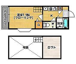 モンキー田島[101号室]の間取り