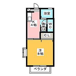 スカイハイツA[1階]の間取り