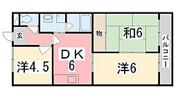 キャッスルKAZU[2階]の間取り