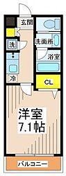 東京都調布市国領町7丁目の賃貸マンションの間取り