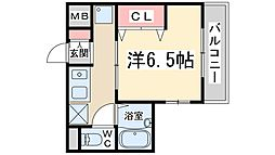 Osaka Metro御堂筋線 西中島南方駅 徒歩16分の賃貸マンション 1階1Kの間取り