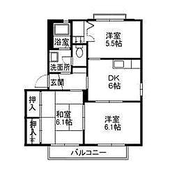 メゾン志津川[C101 号室号室]の間取り