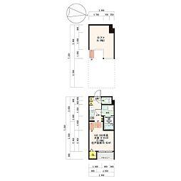 西鉄天神大牟田線 大橋駅 徒歩11分の賃貸アパート 1階1Kの間取り