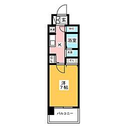 エステムコート名古屋栄プレシャス[11階]の間取り