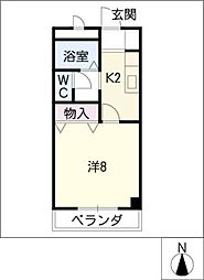 K'sアメニティー[3階]の間取り