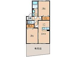 メゾンフローラA棟[1階]の間取り