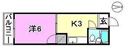 金元第3ビル[305 号室号室]の間取り