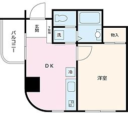 NCスクエア新宿[1003号室]の間取り